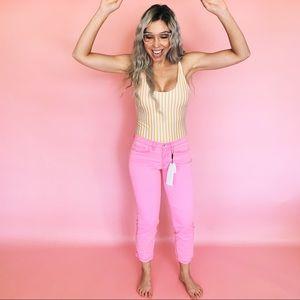 Calvin Klein 90s Brand Neon Pink Skinny Jeans